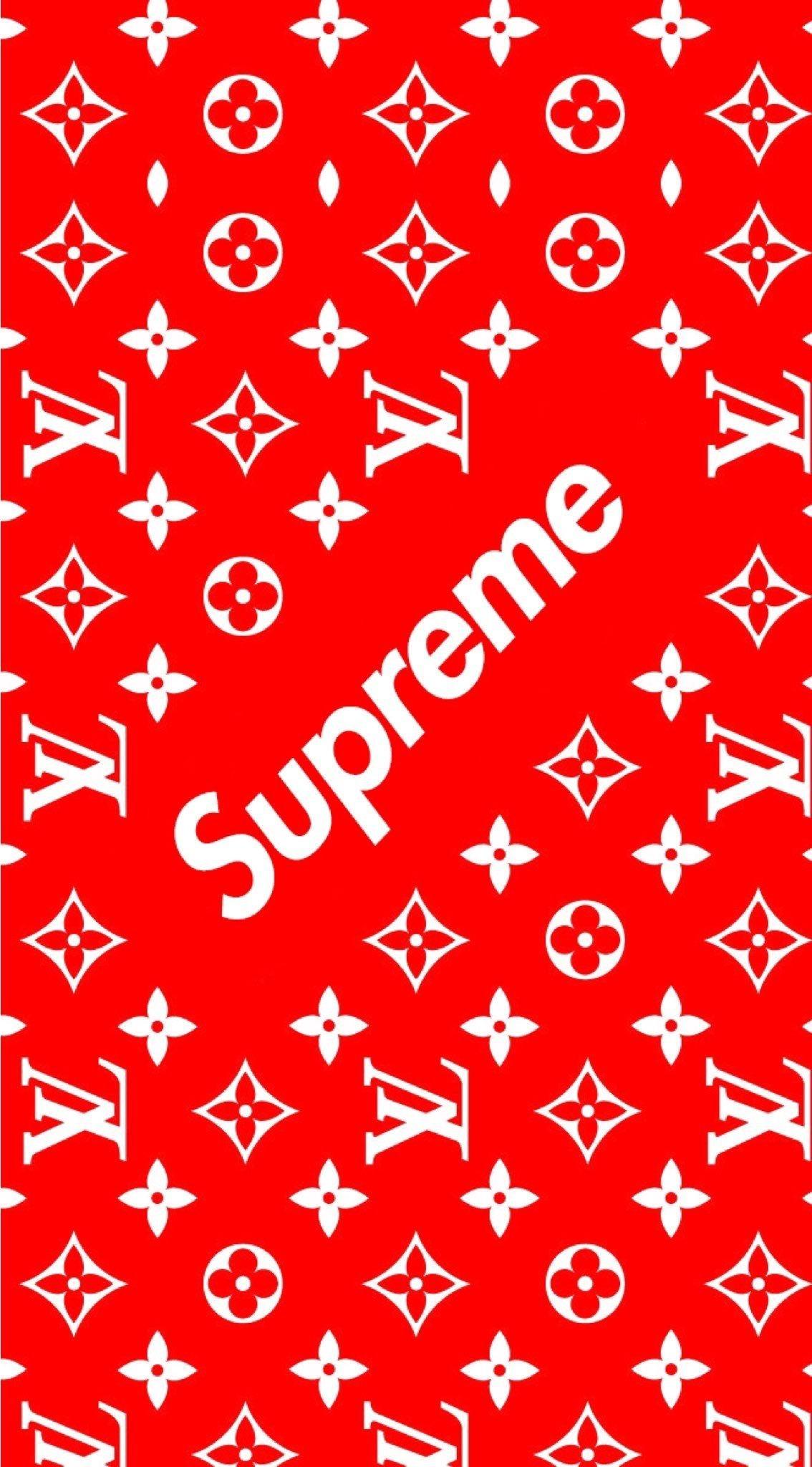 Supreme Louis Vuitton Wallpaper 4k