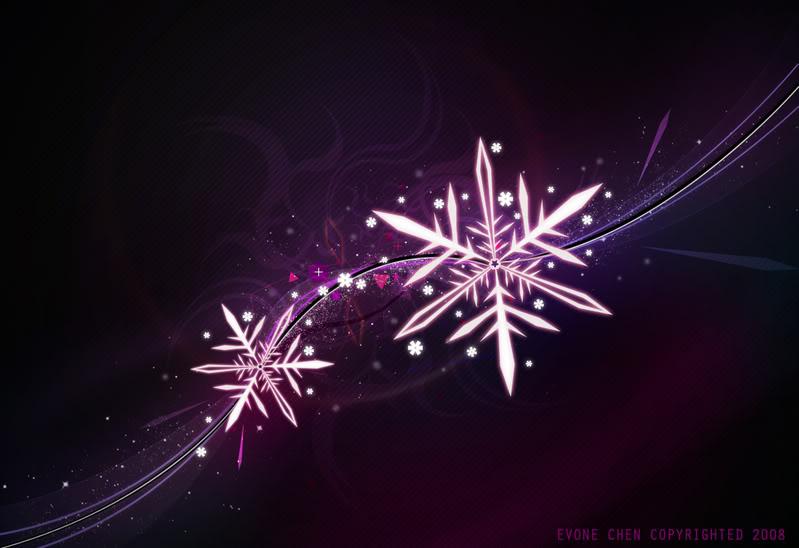 Purple Snowflake Wallpaper - WallpaperSafari