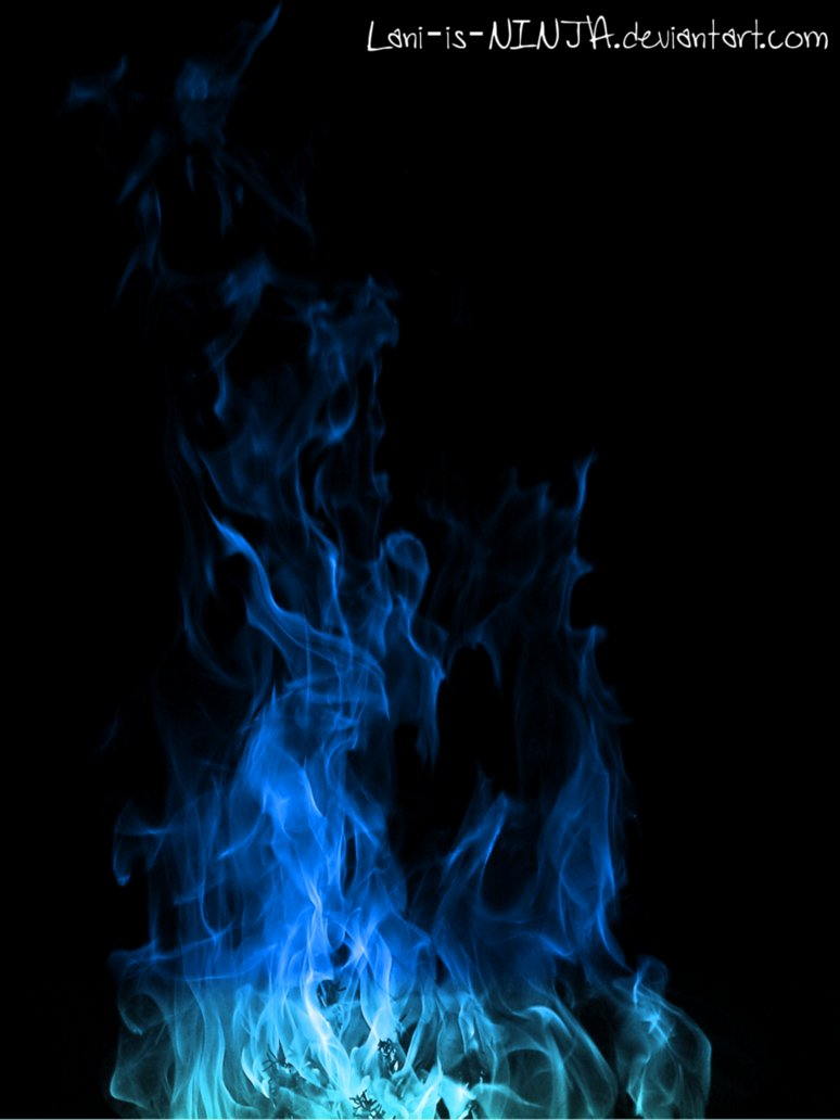 Blue flame with black background by Lani is NINJA 774x1032