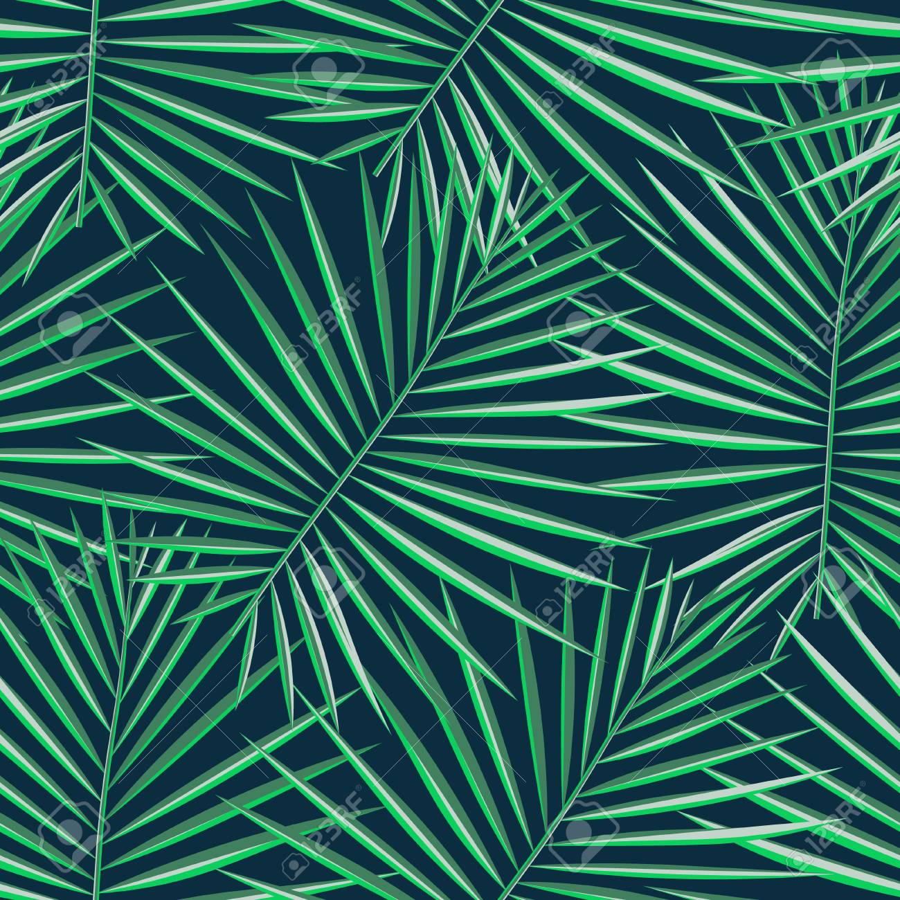 Tropical Pattern Seamless Background Palm Leaves Modern Seamless 1300x1300