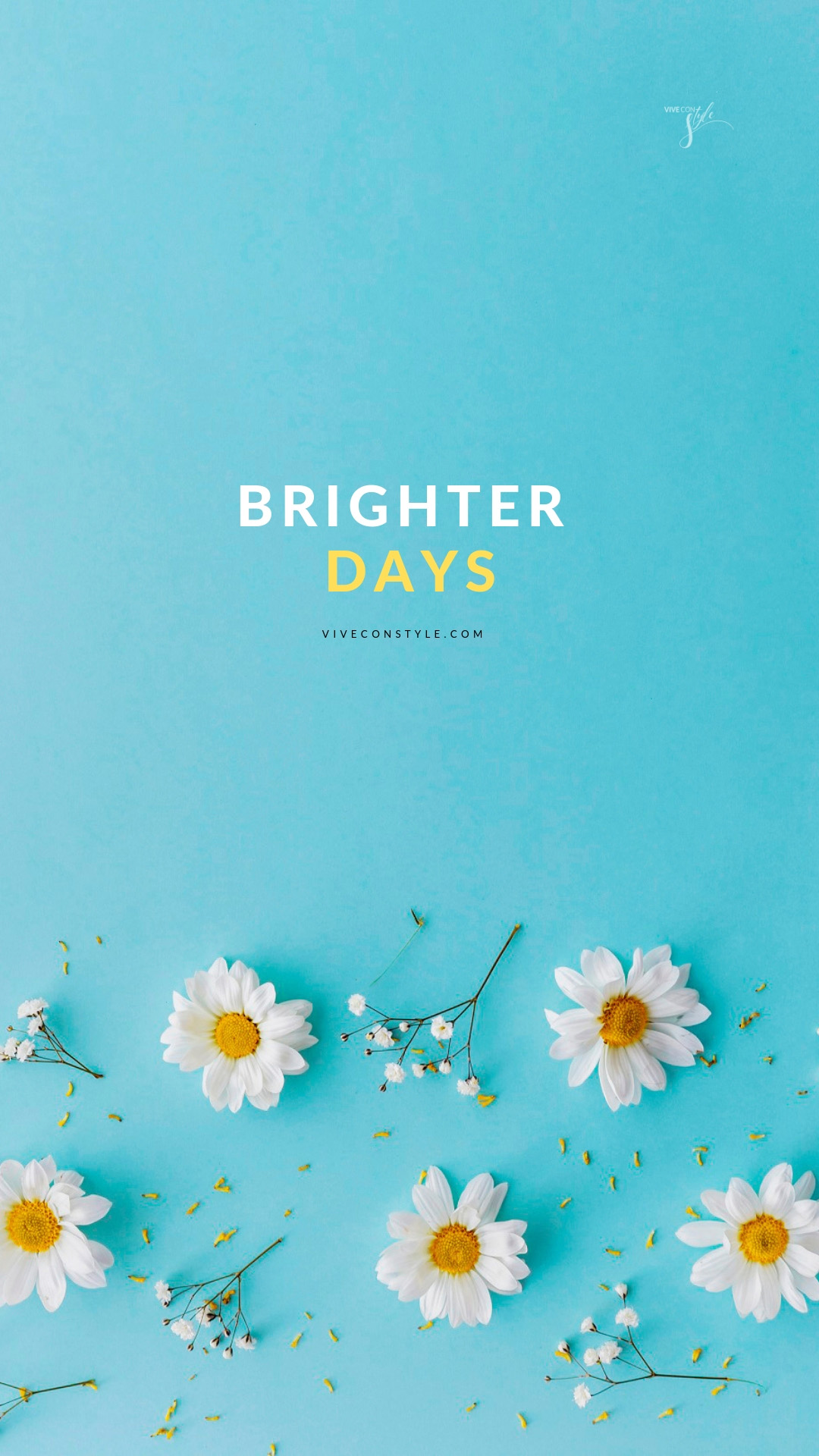 Brighter days spring mobile wallpaper VIVE CON STYLE 1080x1920