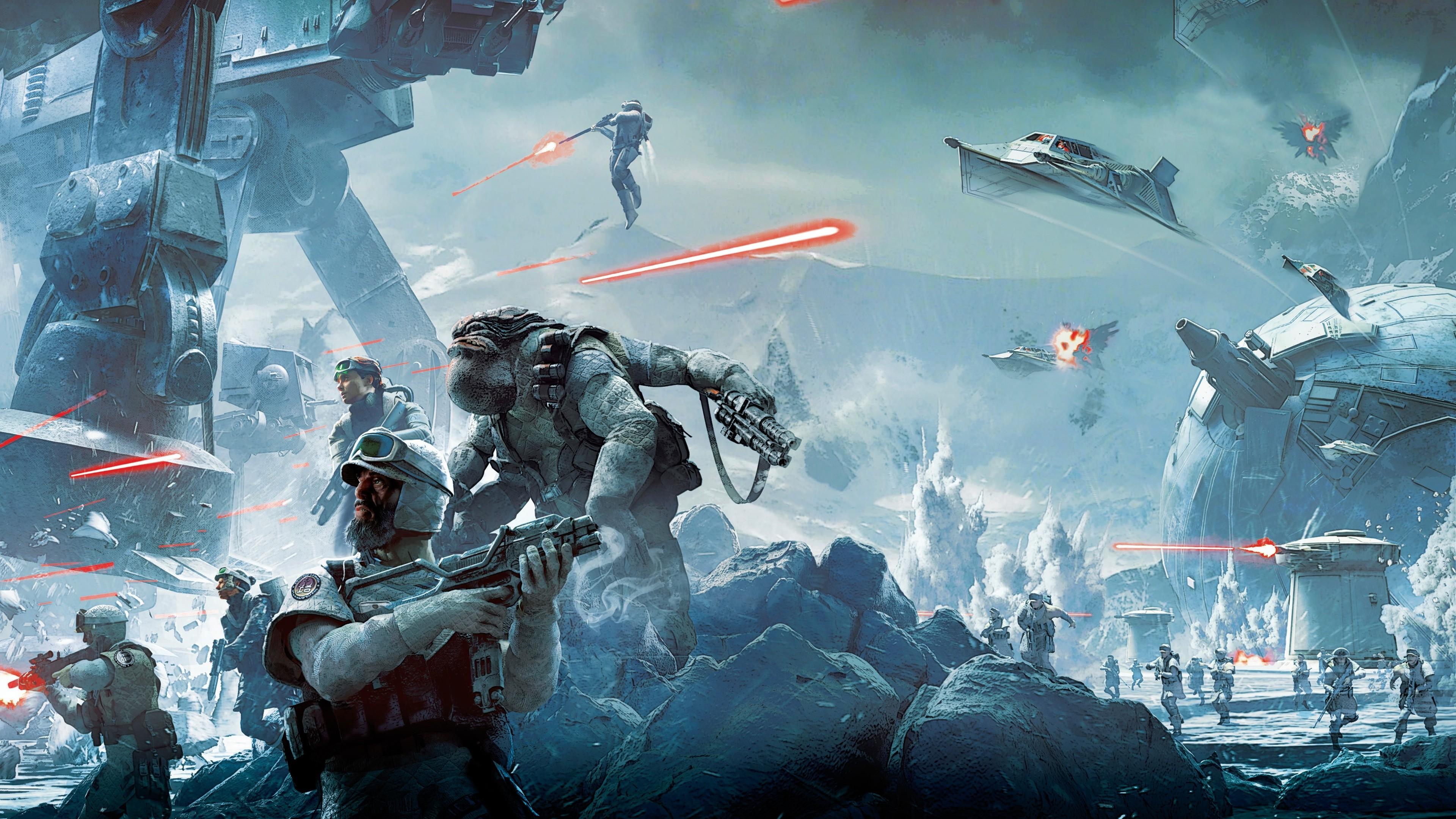 Star Wars Battlefront Star Wars Video Games Battle Hoth 3840x2160