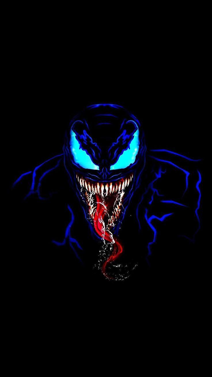 Venom in Dark iPhone Wallpaper hintergrund wallpaper 736x1308