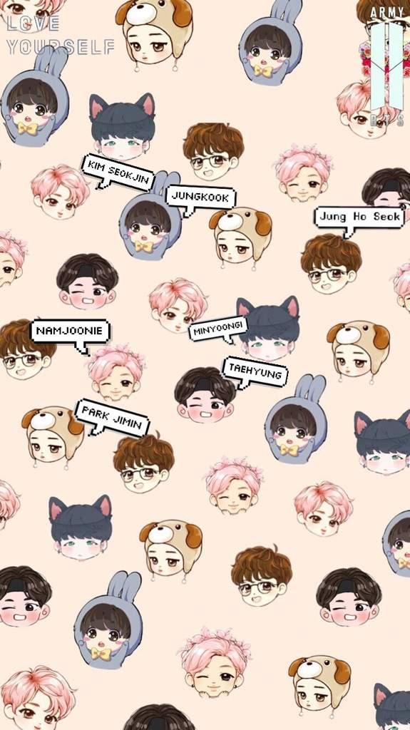 Bts chibi wallpapers if u want an individual member lmk Jeon 575x1024