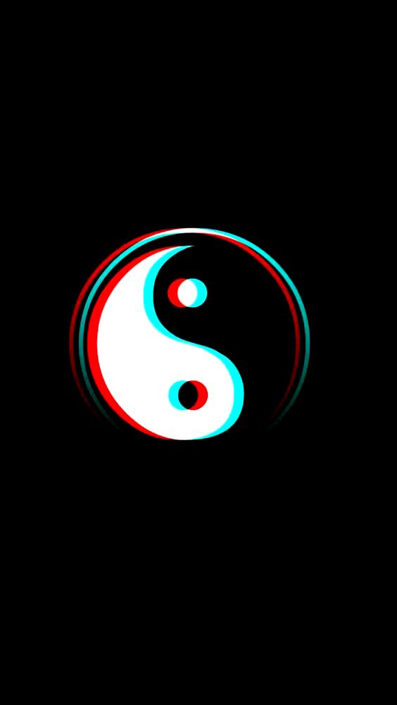 Yin yang glitch wallpaper Glitch wallpaper Yin yang Wallpaper 564x1001