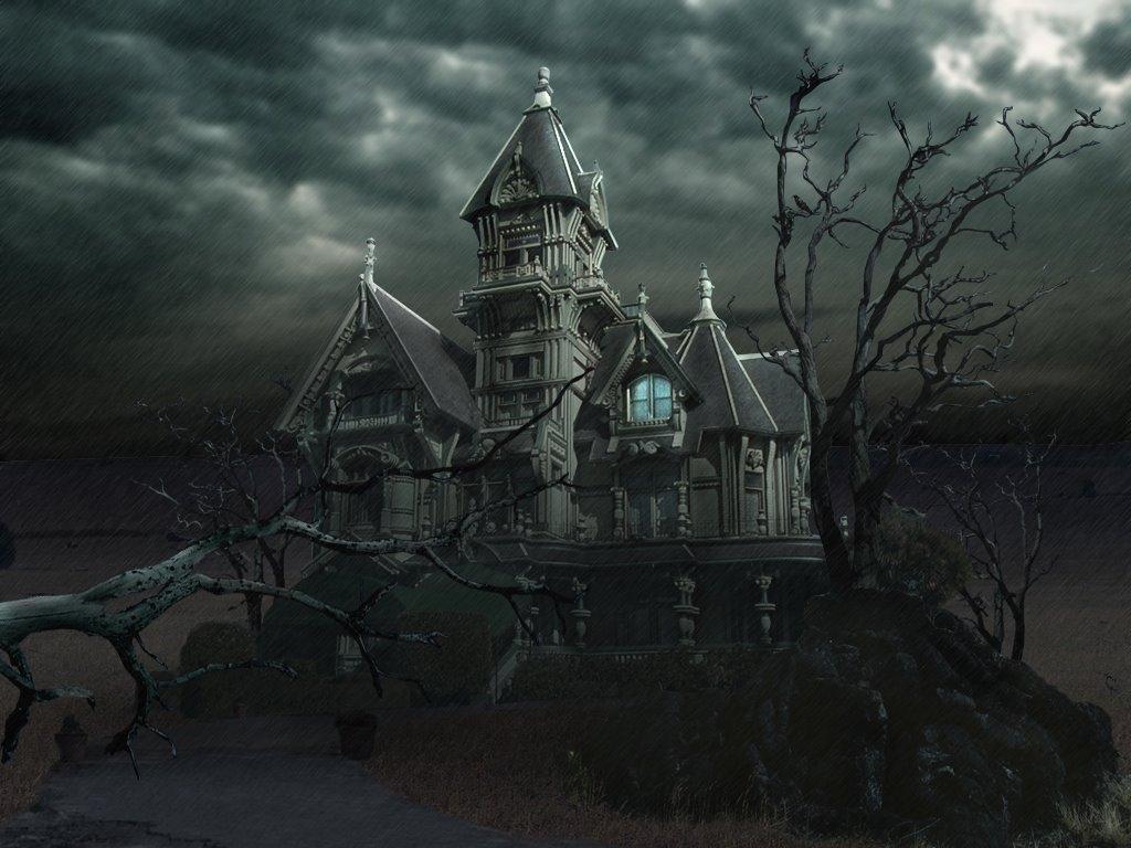 Halloween Haunted House Wallpapers 1024x768