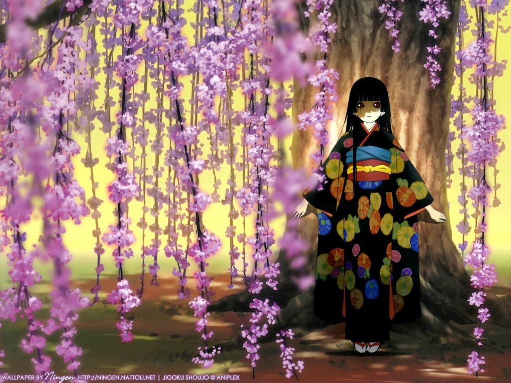 Hell Girl   Jigoku Shoujo Girl From Hell Wallpaper 3252426 1024x768