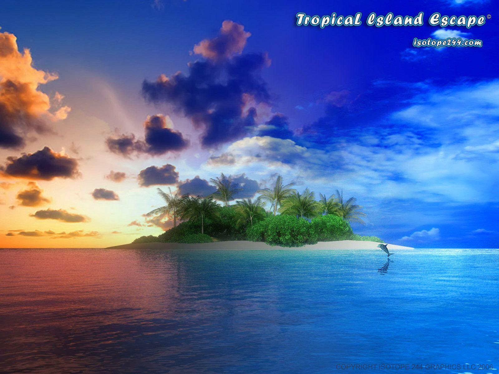 Tropical Island Backgrounds 1600x1200