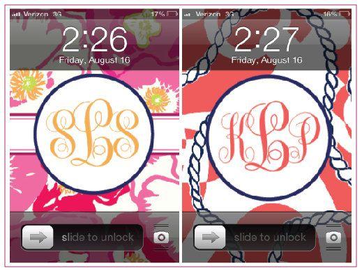 custom monogram phone wallpaper 519x392