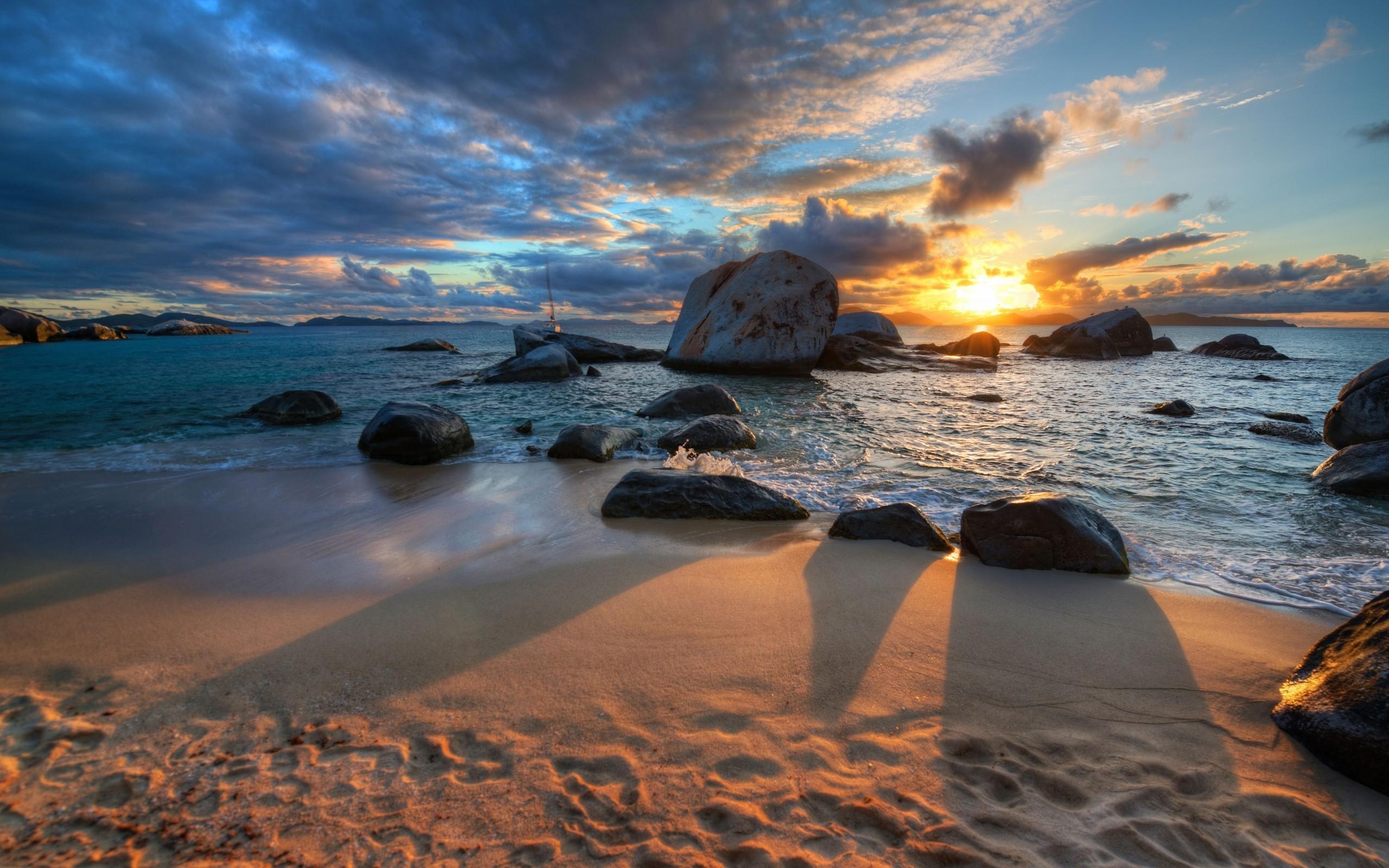 Beautiful Sunrise at Beach   Landscape   Landscape 2560x1600