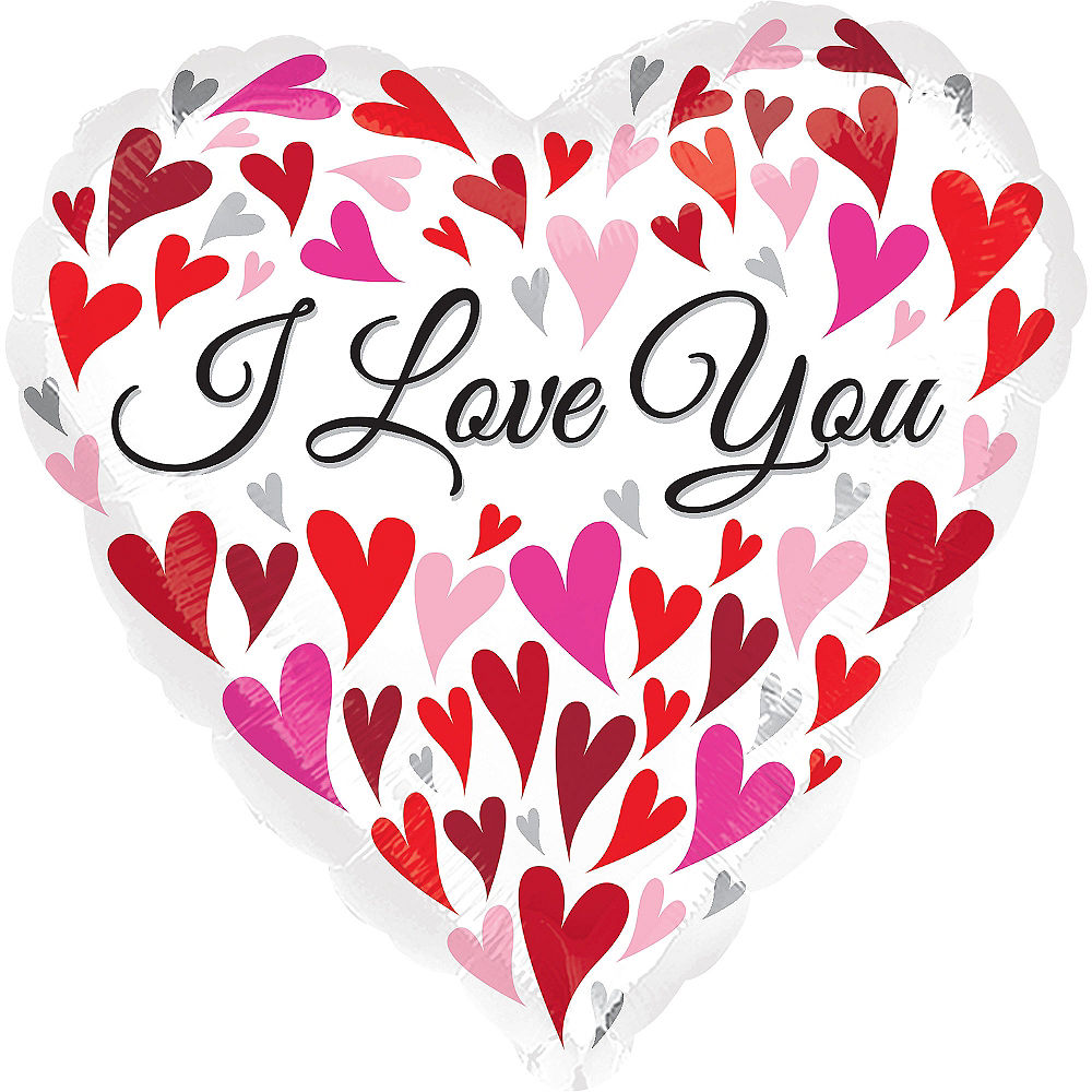 I Love You Floating Hearts Balloon 28in Party City 1000x1000