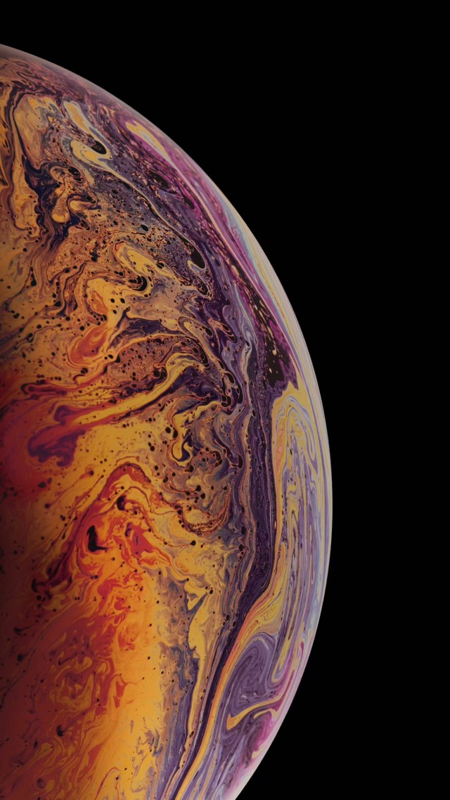 Wallpaper iPhone XS gold 4K OS 20372 640x1138