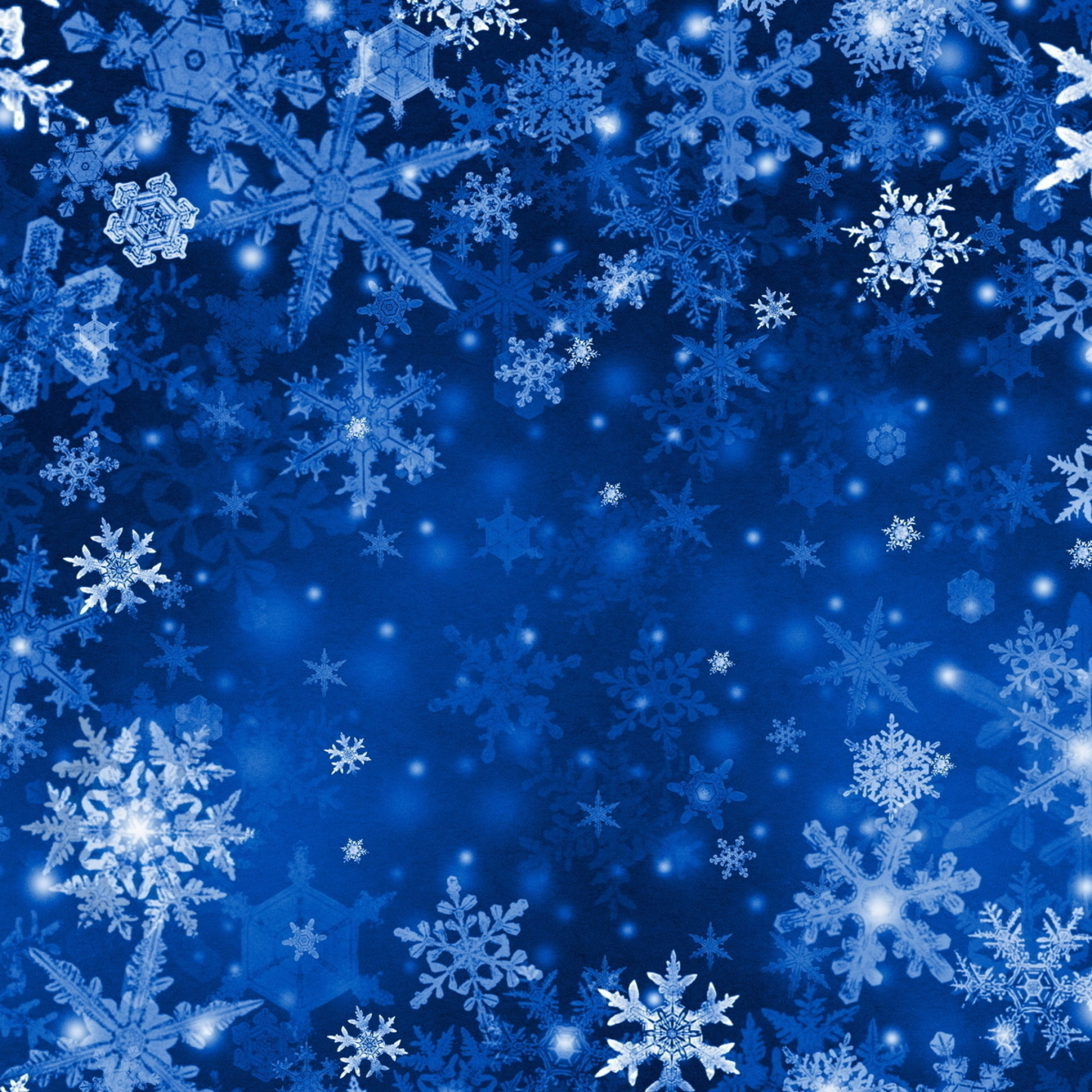 2048x2048 Wallpaper snowflakes background bright texture winter 2048x2048