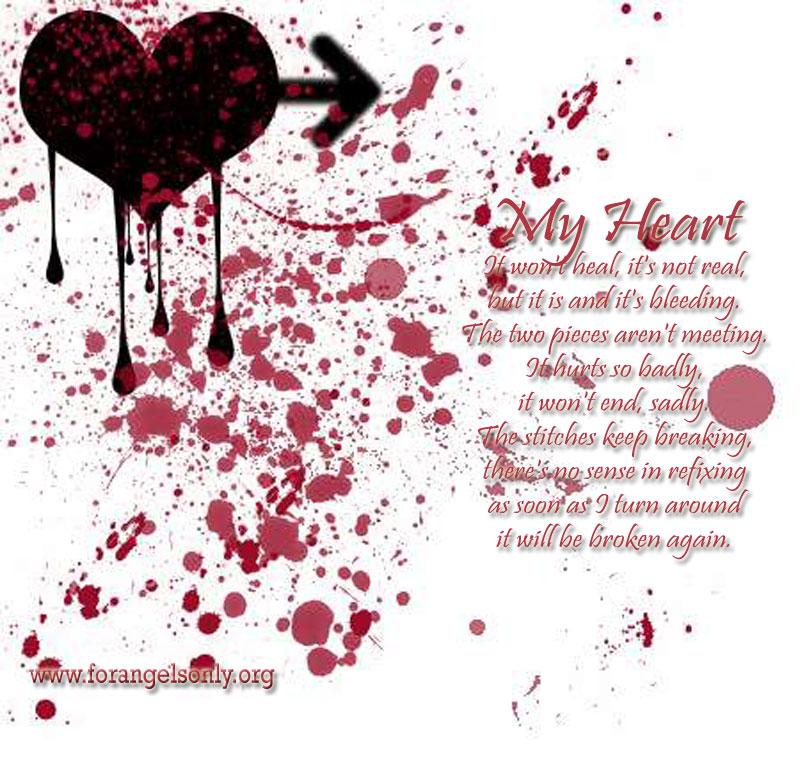 Emo Poems: Emo Broken Heart Wallpaper