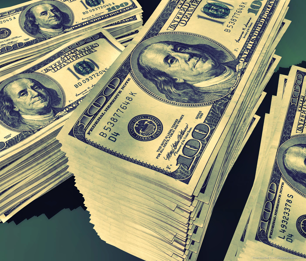 100 Dollar Bill Wallpaper 1200x1024
