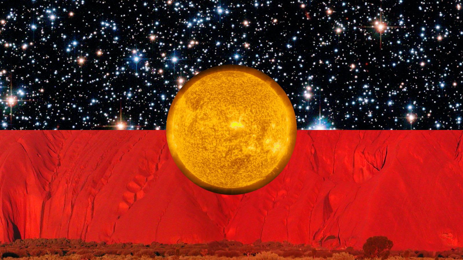 Australian Aboriginal Flag 1 by Emma Constance 1600x900