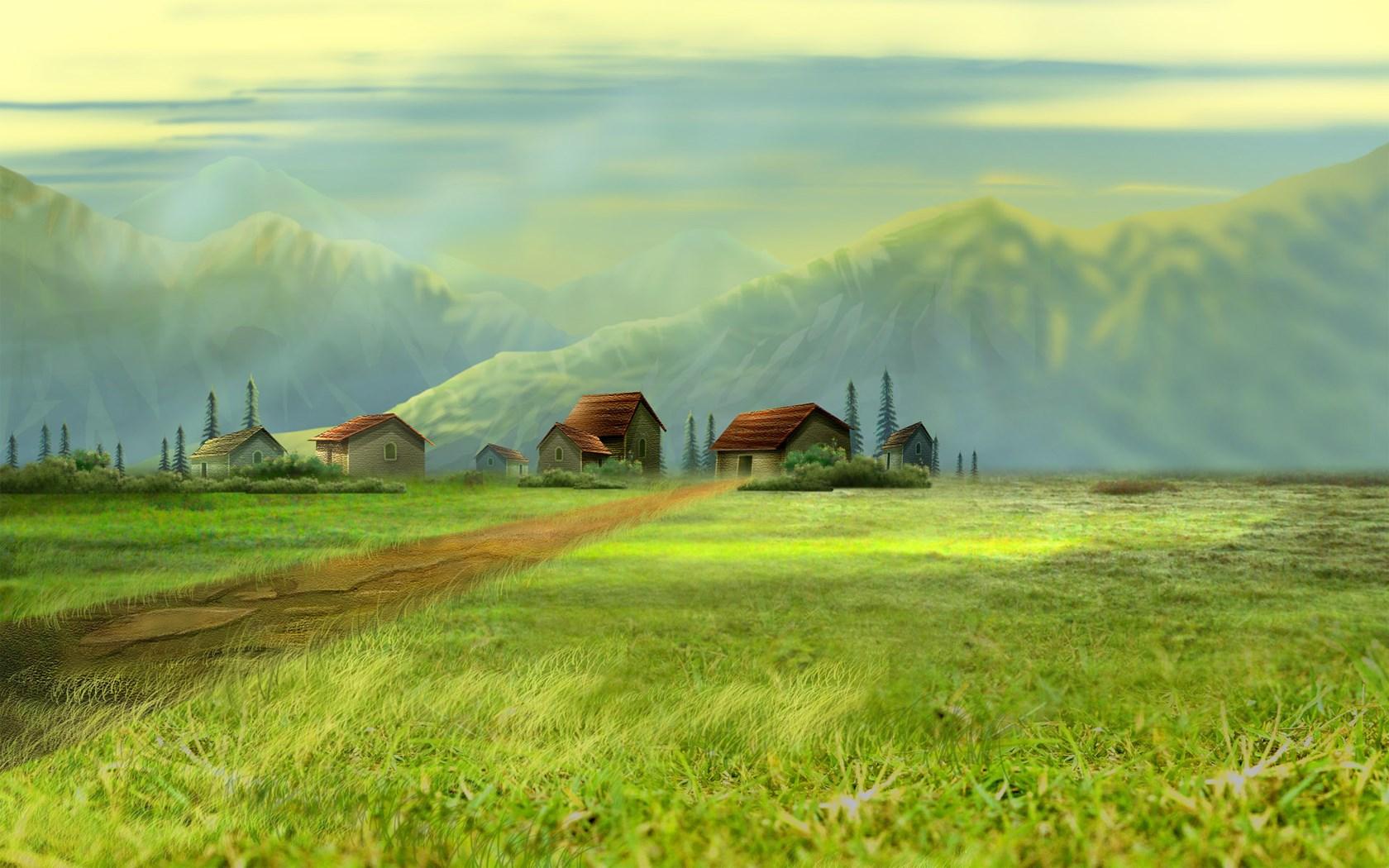 Dream Village Wallpaper [1680x1050] 1680x1050