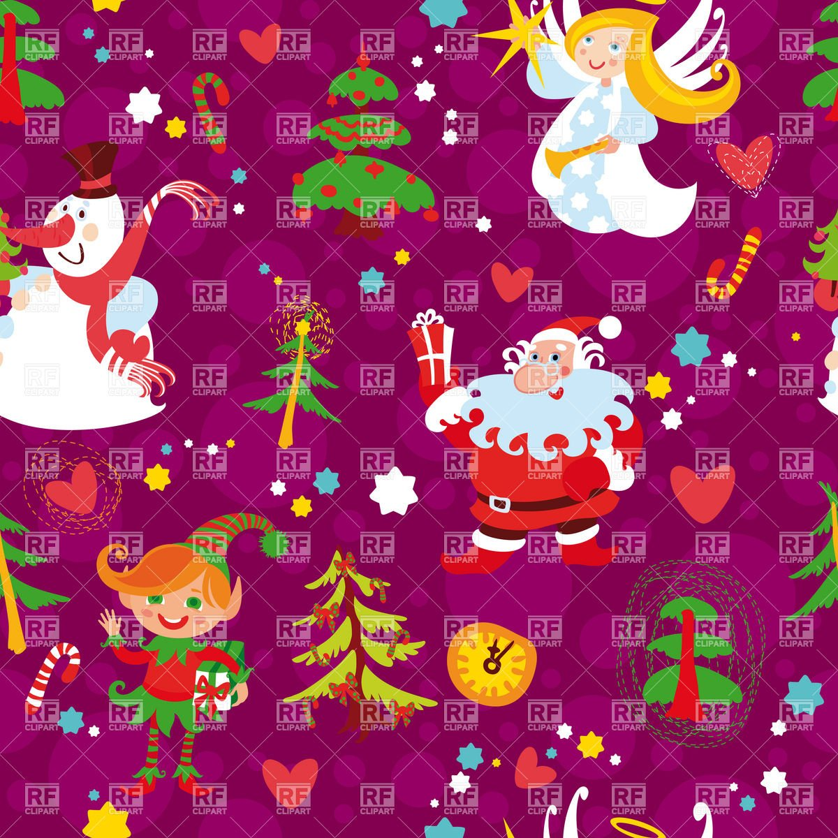 Christmas seamless wallpaper pattern with Santa and snowman download 1200x1200