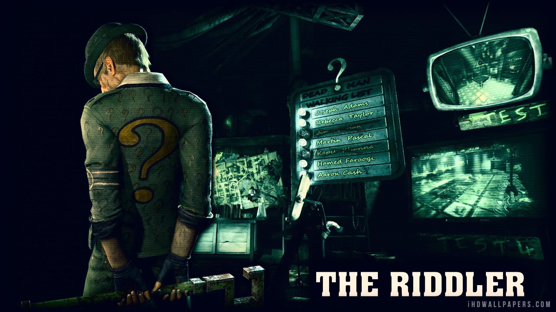 Batman Arkham City Riddler Wallpaper - WallpaperSafari