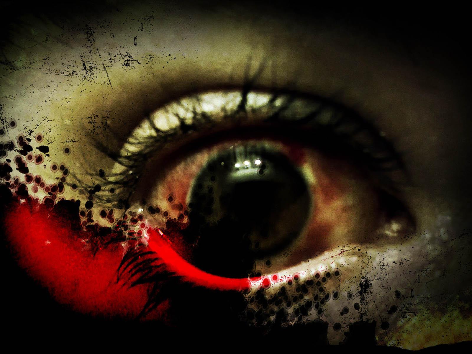 wallpaper Horror Eye 1600x1200
