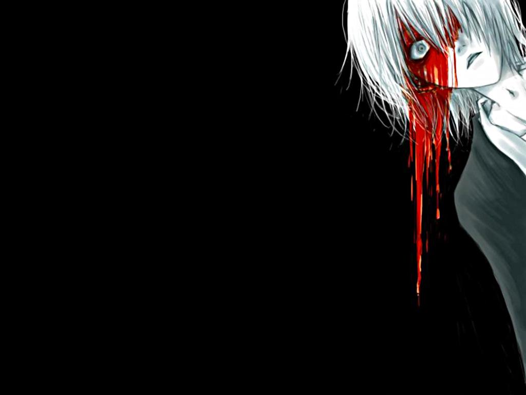 Bloody anime girl wallpaper