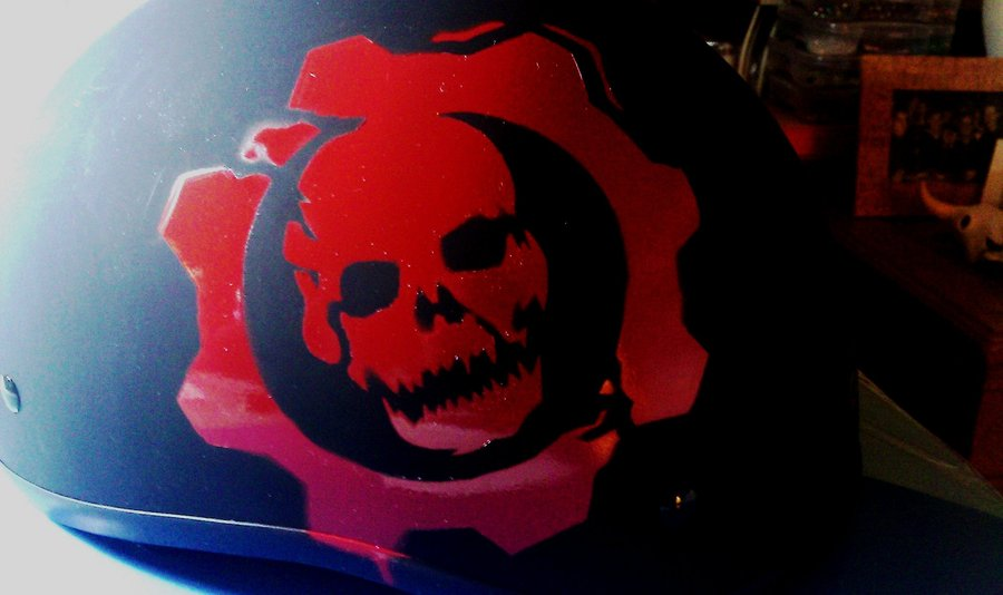 Gears Of War Spray Paint Stencil Gears of war crimson omen on 900x534