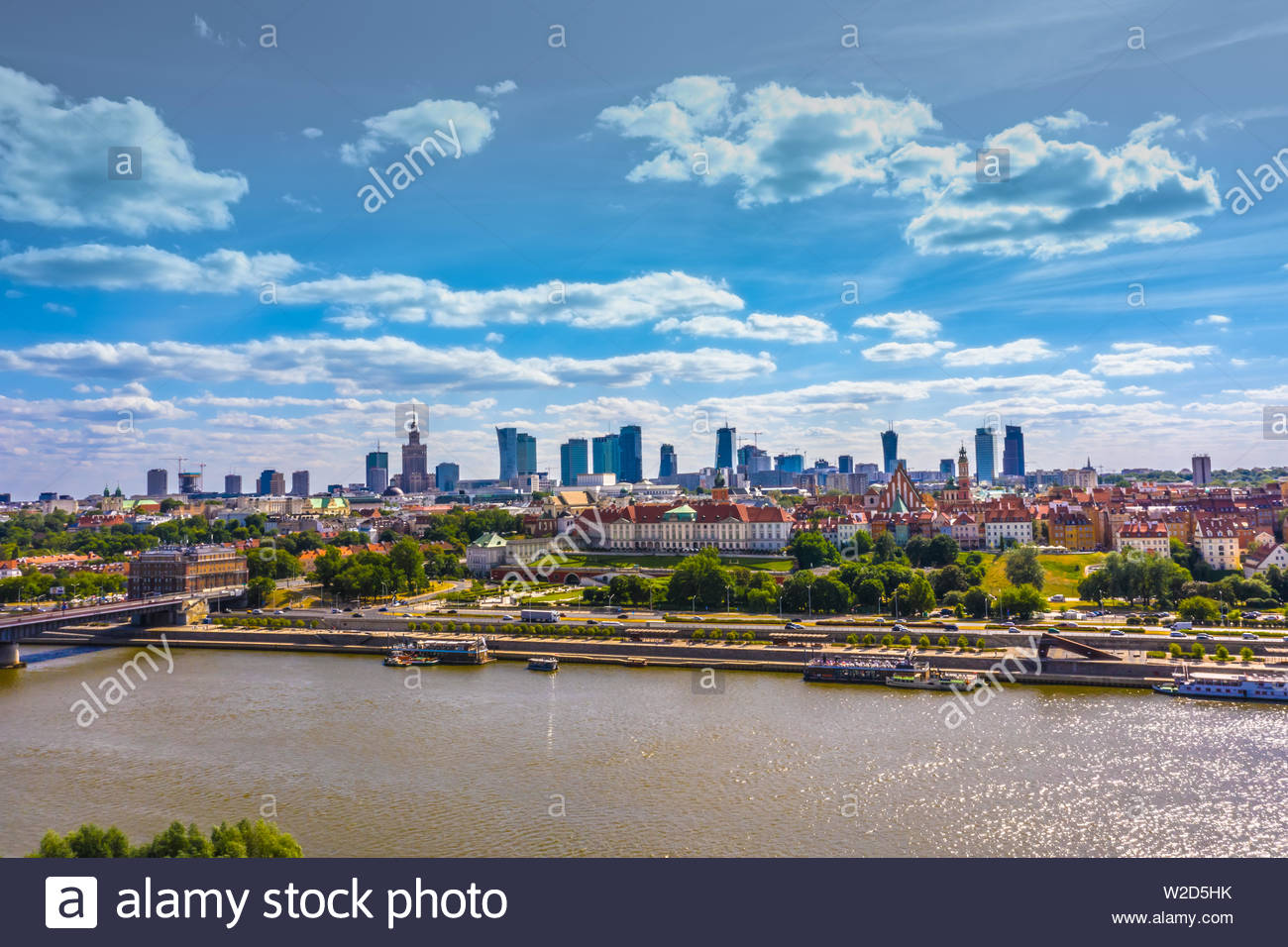 City skyline background Aerial view of Warsaw capital city of 1300x956