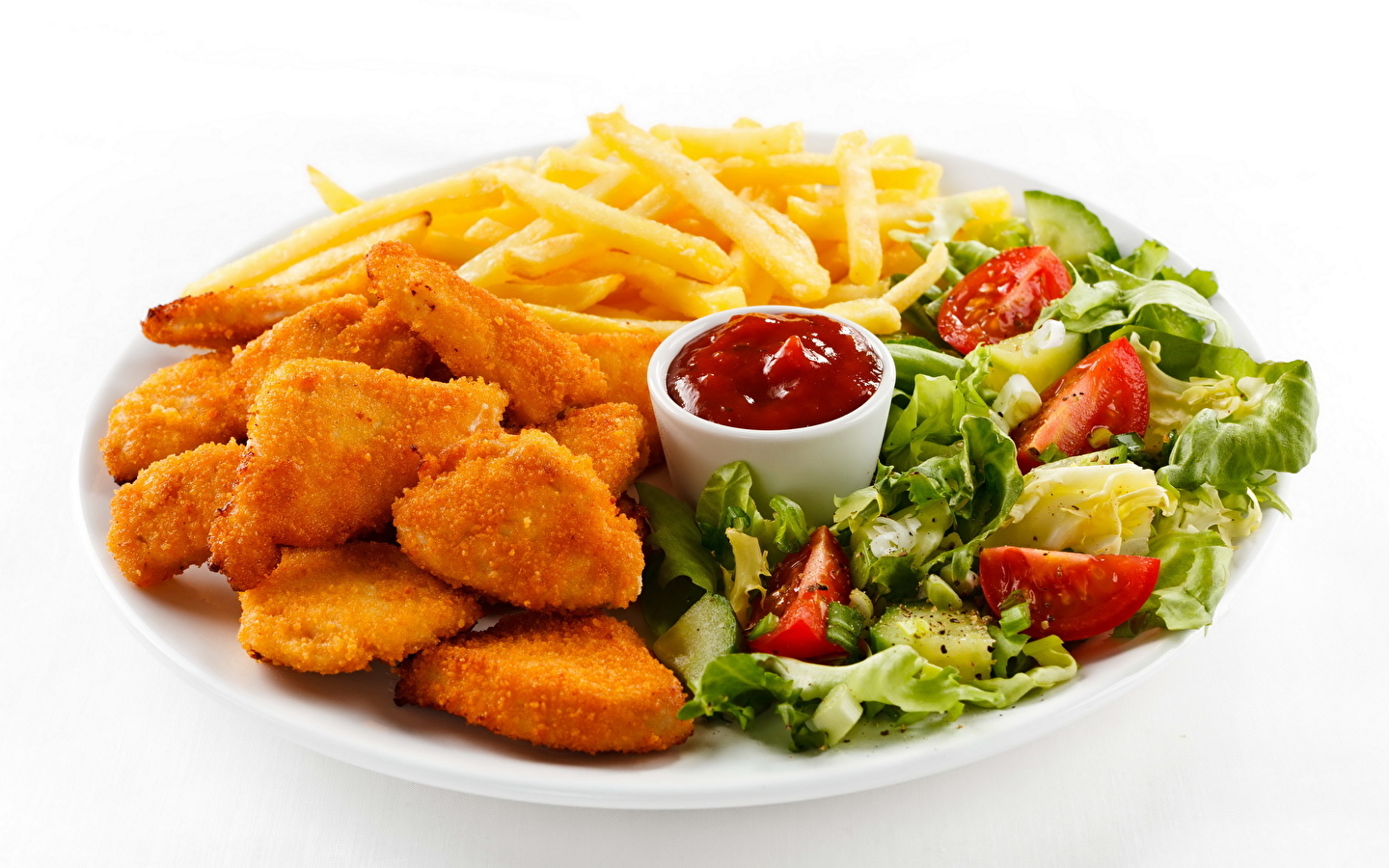 Images Nuggets French fries Ketchup Fast food Food 1440x900 1440x900