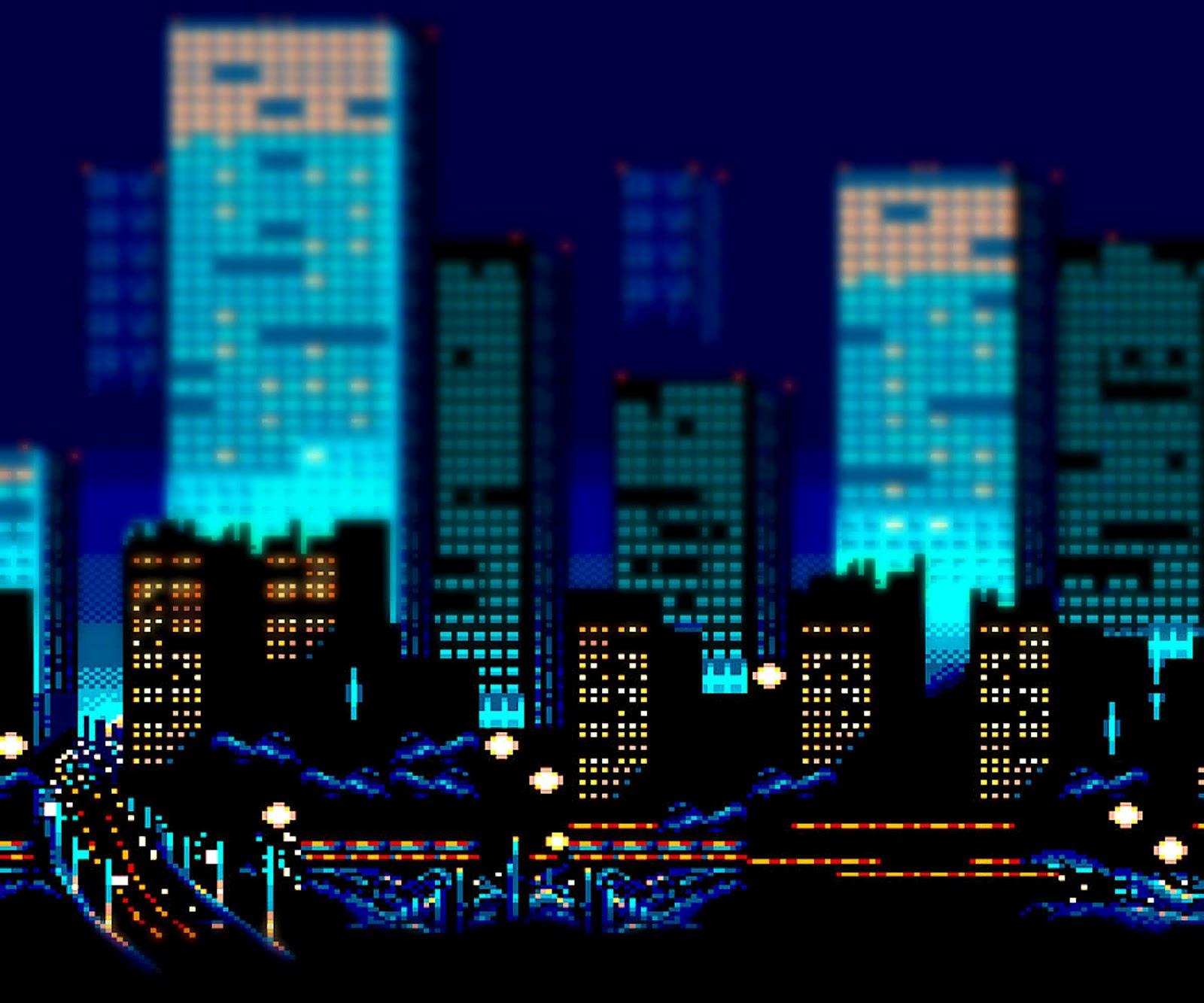 16 Bit City Background Spyder acidburn android wallpaper   8 bit 1600x1333