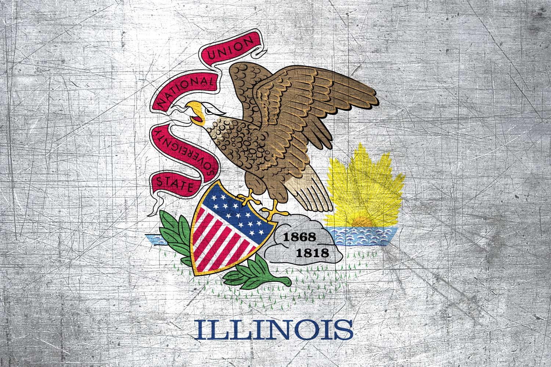 Illinoisan Flag Metal Flag of Illinois   Download it for 1500x1000