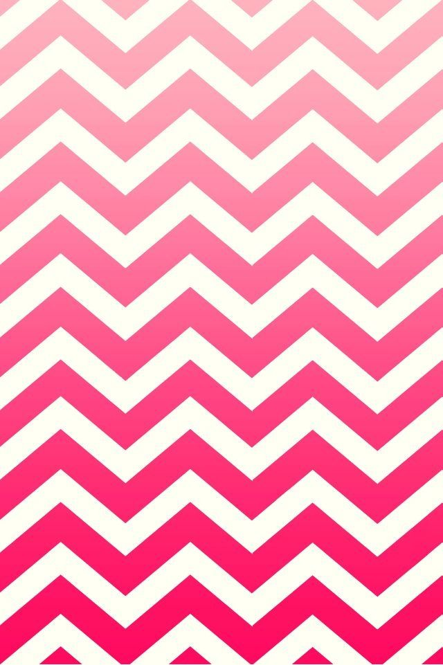Pink ombr chevron Phone wallpapers Pinterest 640x961
