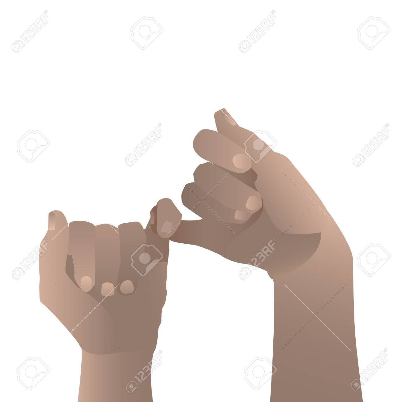 Hand To Hand Reconciliation Childish White Background 1300x1300