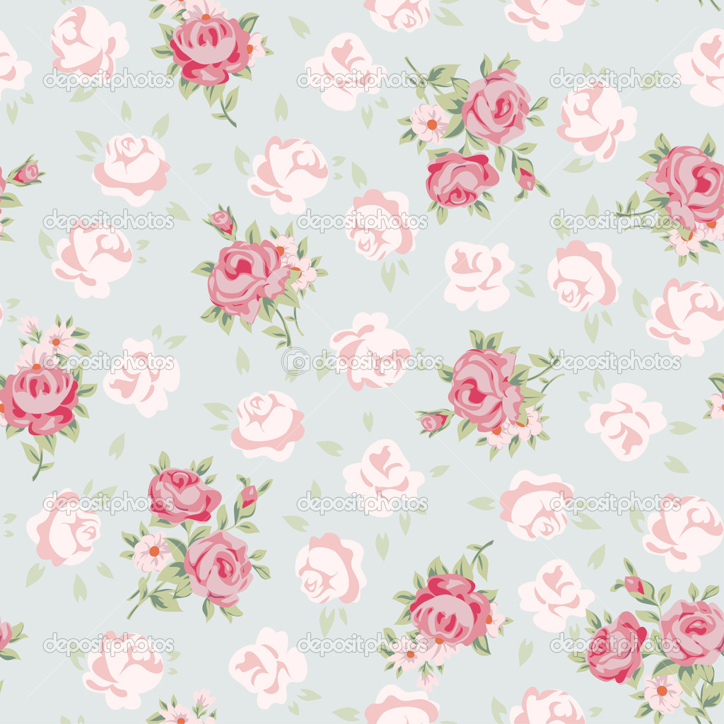 Shabby chic wallpaper wallpapersafari - Papel paredes vintage ...