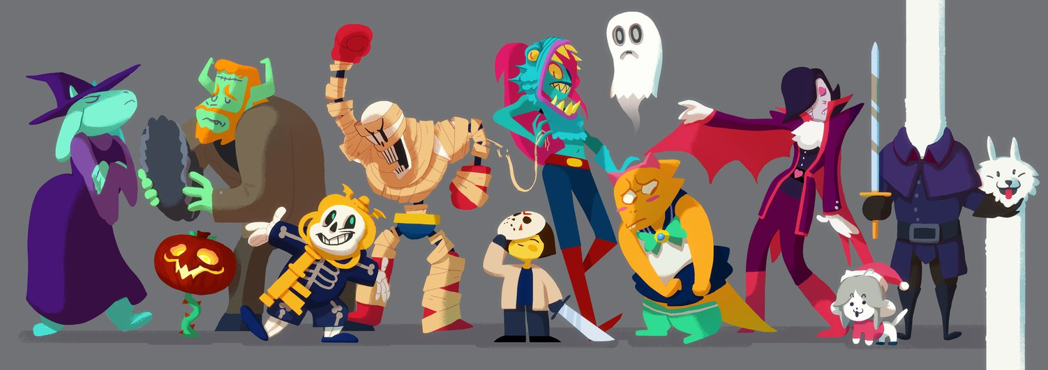 Undertale Halloween by Art Calavera 1502x531