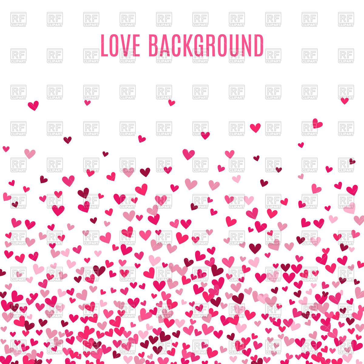 Romantic pink heart valentine background Vector Image of 1200x1200