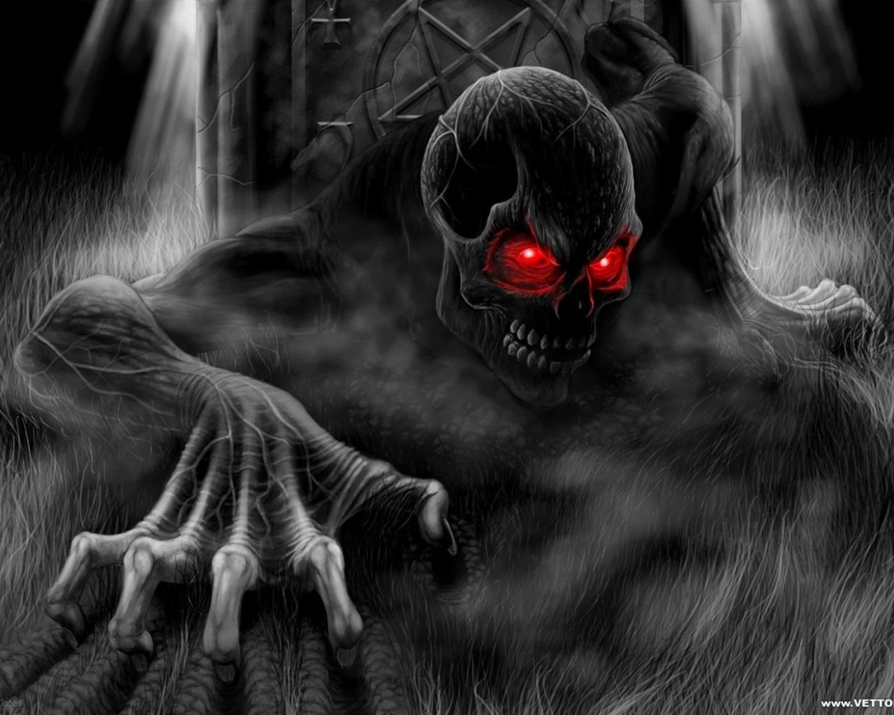 Horror creepy black death dark monsters gothic wallpaper 69249 1280x1024