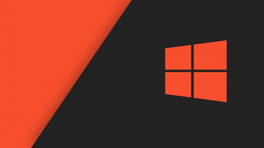 Microsoft Windows 10 Red Black Background 4K Wallpapers 900x506