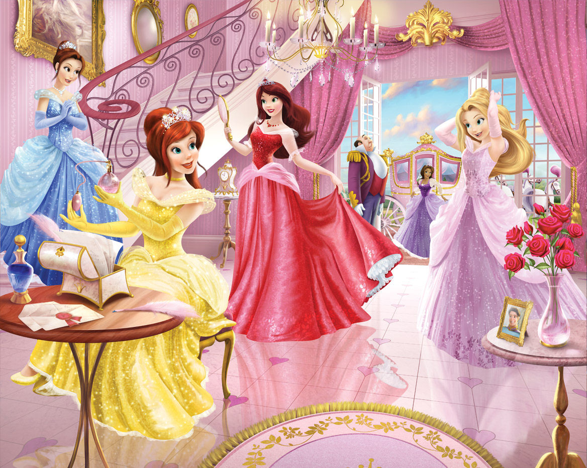 Beauty Disney Princess Wallpaper for Kids Room on LoveKidsZone 1168x932