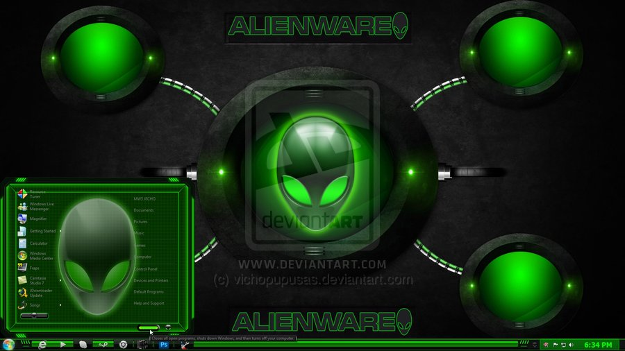 alienware green by vichopupusas 900x506