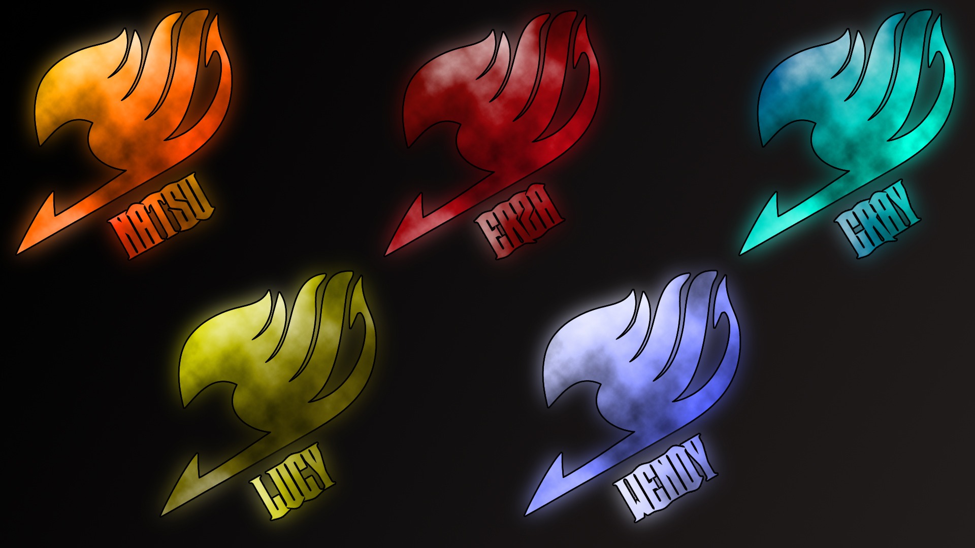 Fairy Tail logos by Anzachs 1920x1080