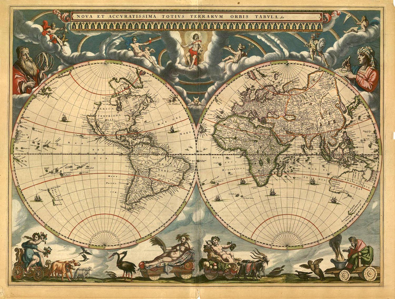 World Map from the 1600s 1500x1135