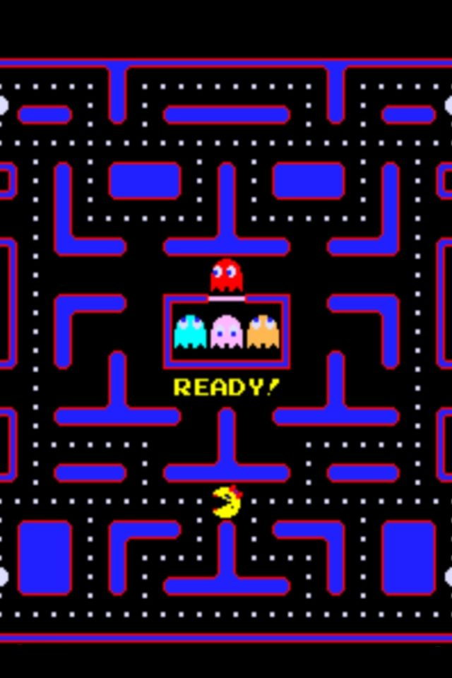 Ms Pacman Throwback   The good ol days Background hd 640x960