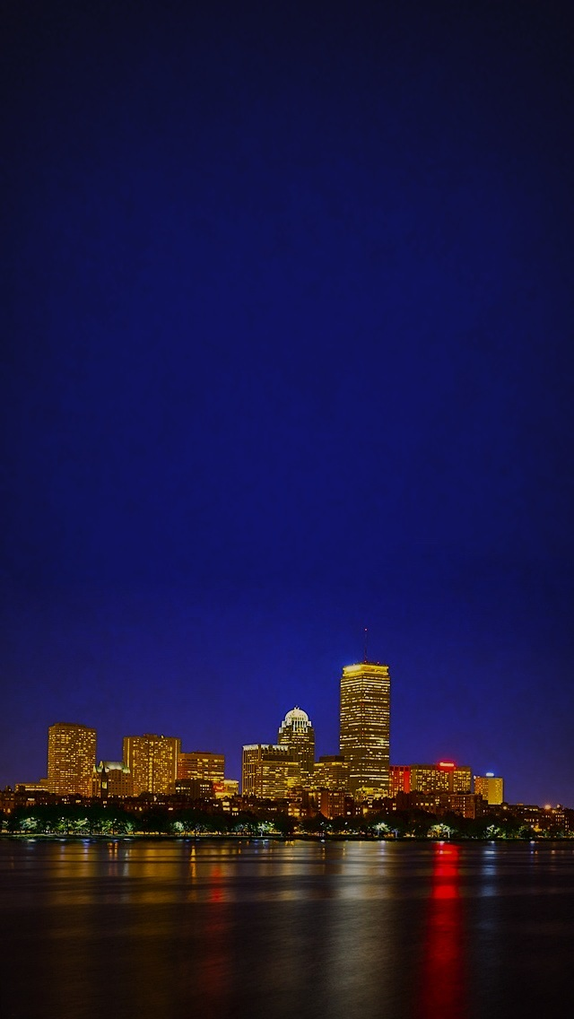 Boston Iphone Wallpaper Boston at night wallpaper 640x1136