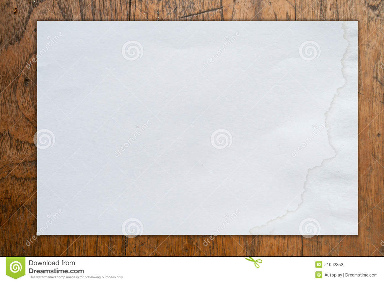 Blank White Background White blank paper on wood 1300x957