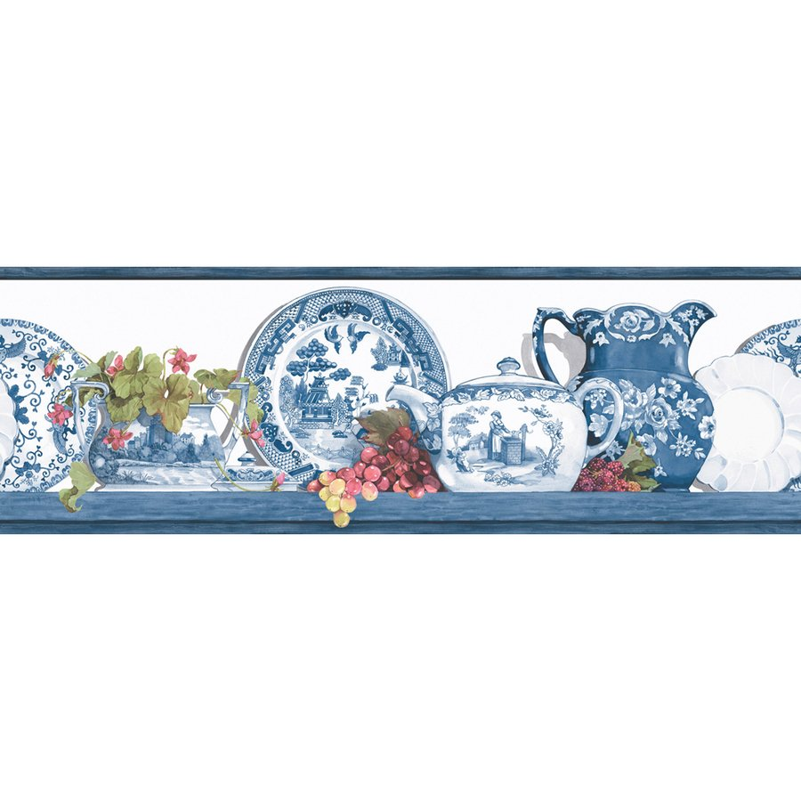 roth 6 78 Blue Willow Prepasted Wallpaper Border at Lowescom 900x900