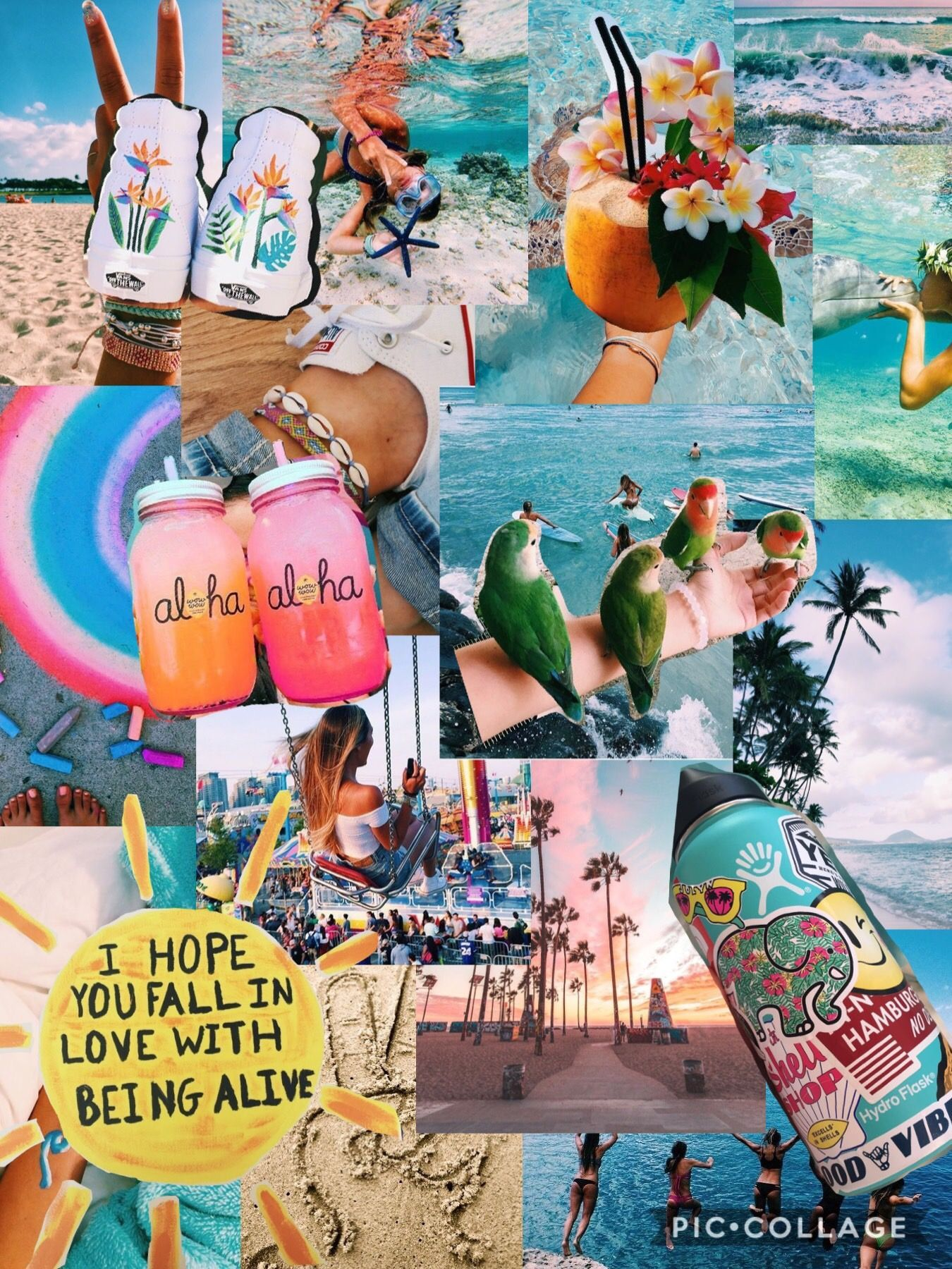 Aesthetic Summer Collage Wallpapers 1350x1800