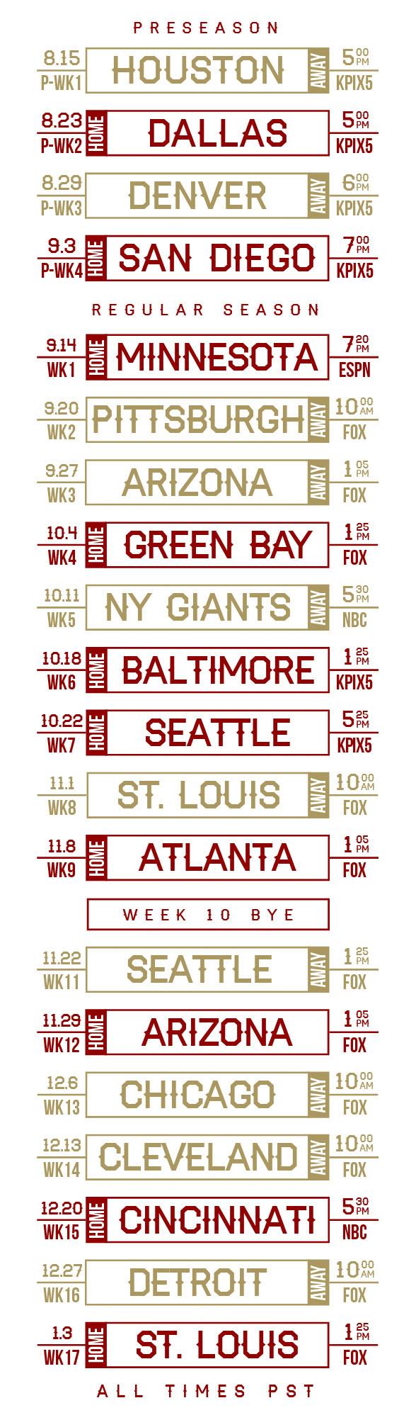Sf giants 2015 schedule wallpaper wallpapersafari - 2015 49ers schedule wallpaper ...
