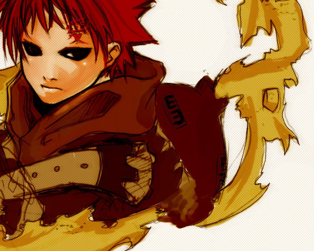Gaara Wallpaper   Suna no Gaara Wallpaper 22084735 1280x1024