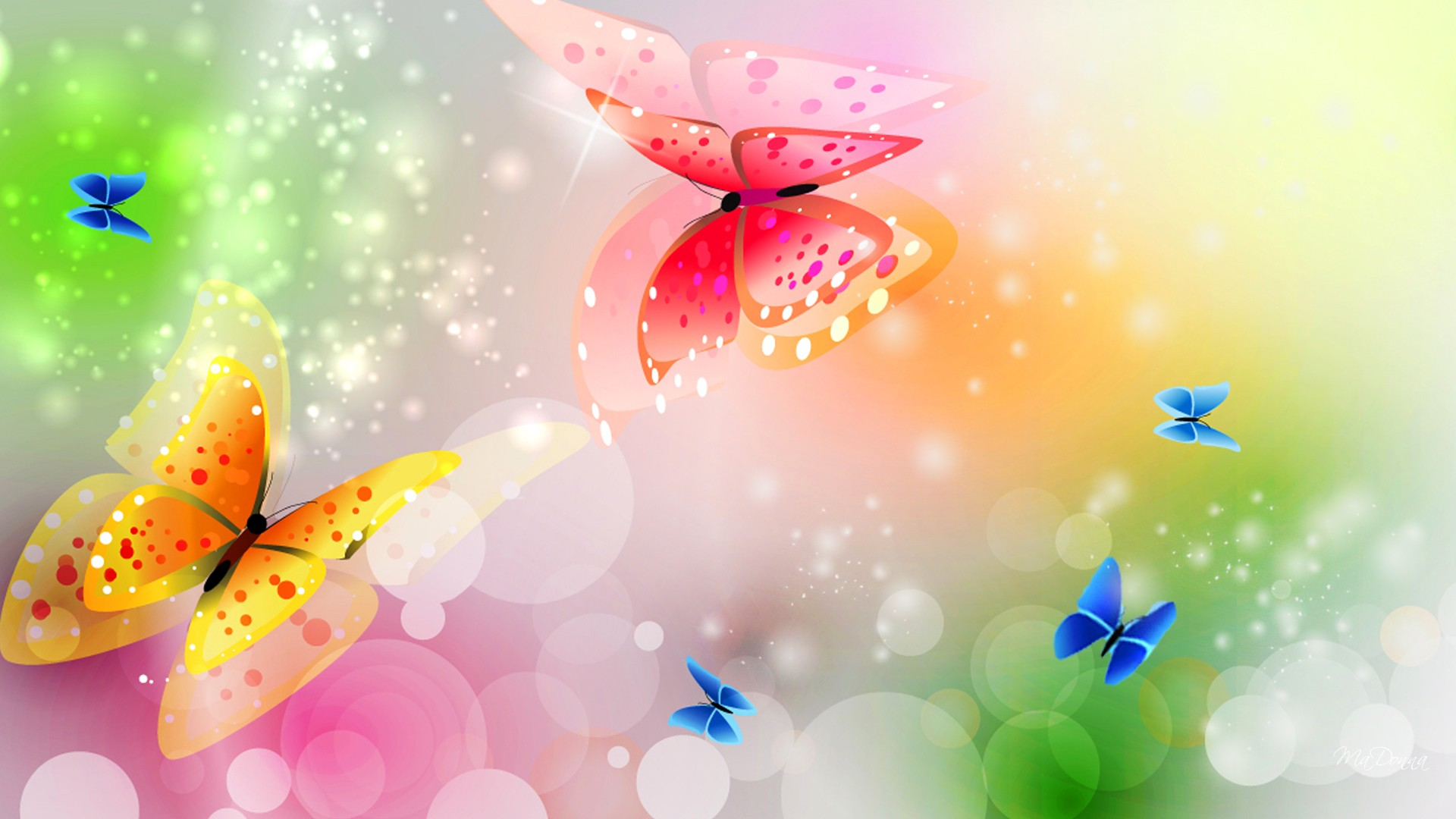 butterfly backgrounds 1920x1080