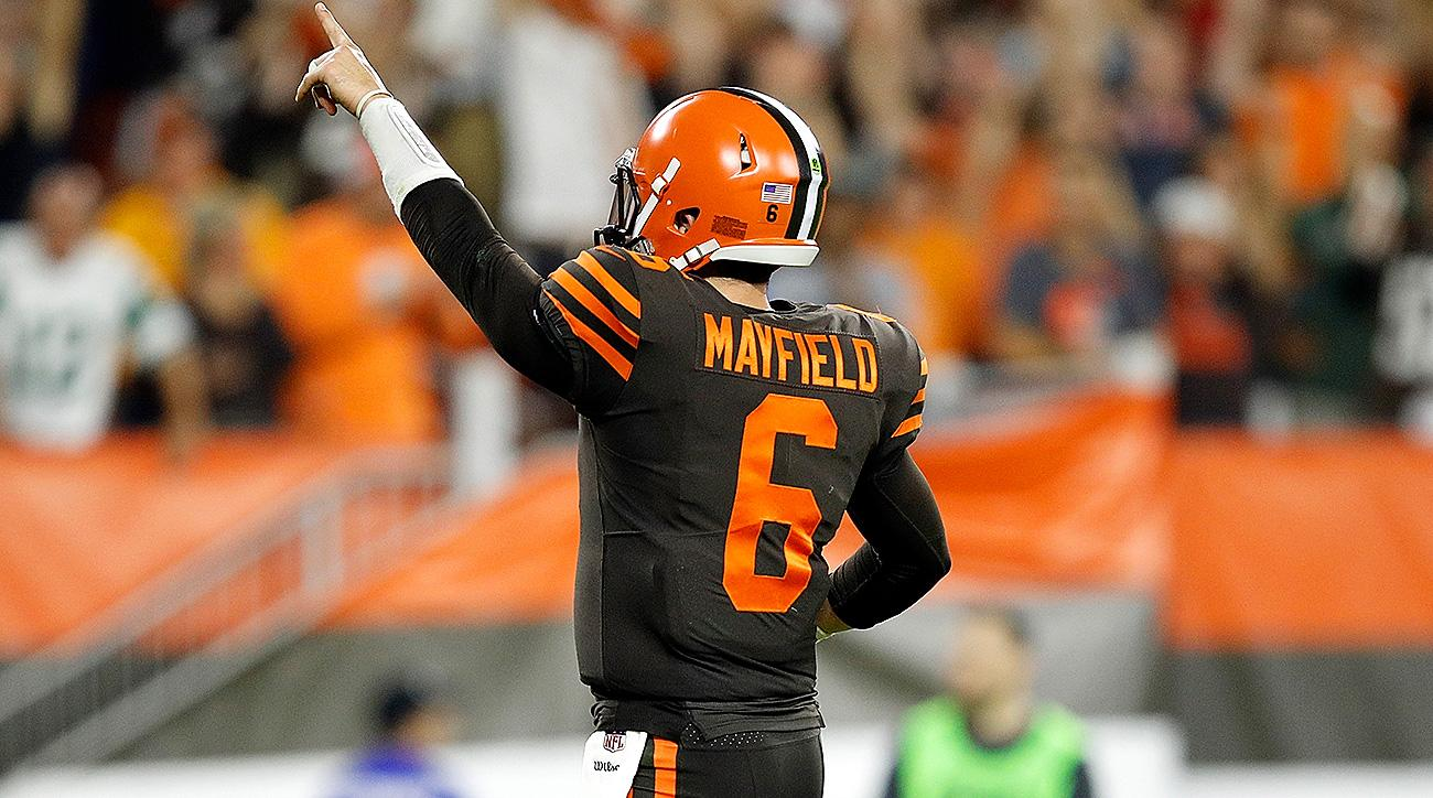 Browns Jets Baker Mayfield leads Clevelands first win in 635 1300x724